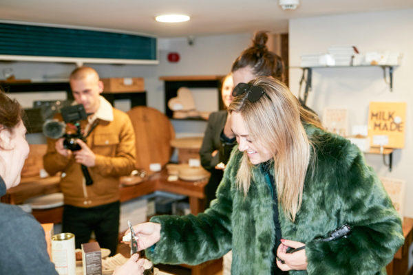 Travel blogger Jessica Sturdy at Paxton & Whitfield in London