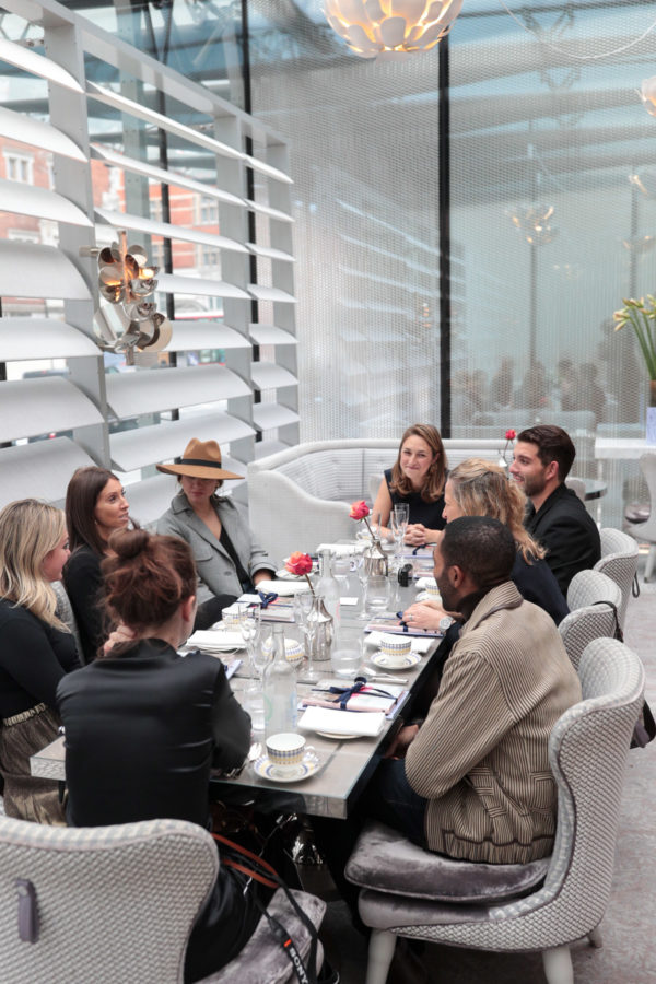 Fashion and travel blogger Jessica Sturdy at Pret a Portea at The Berkeley in London