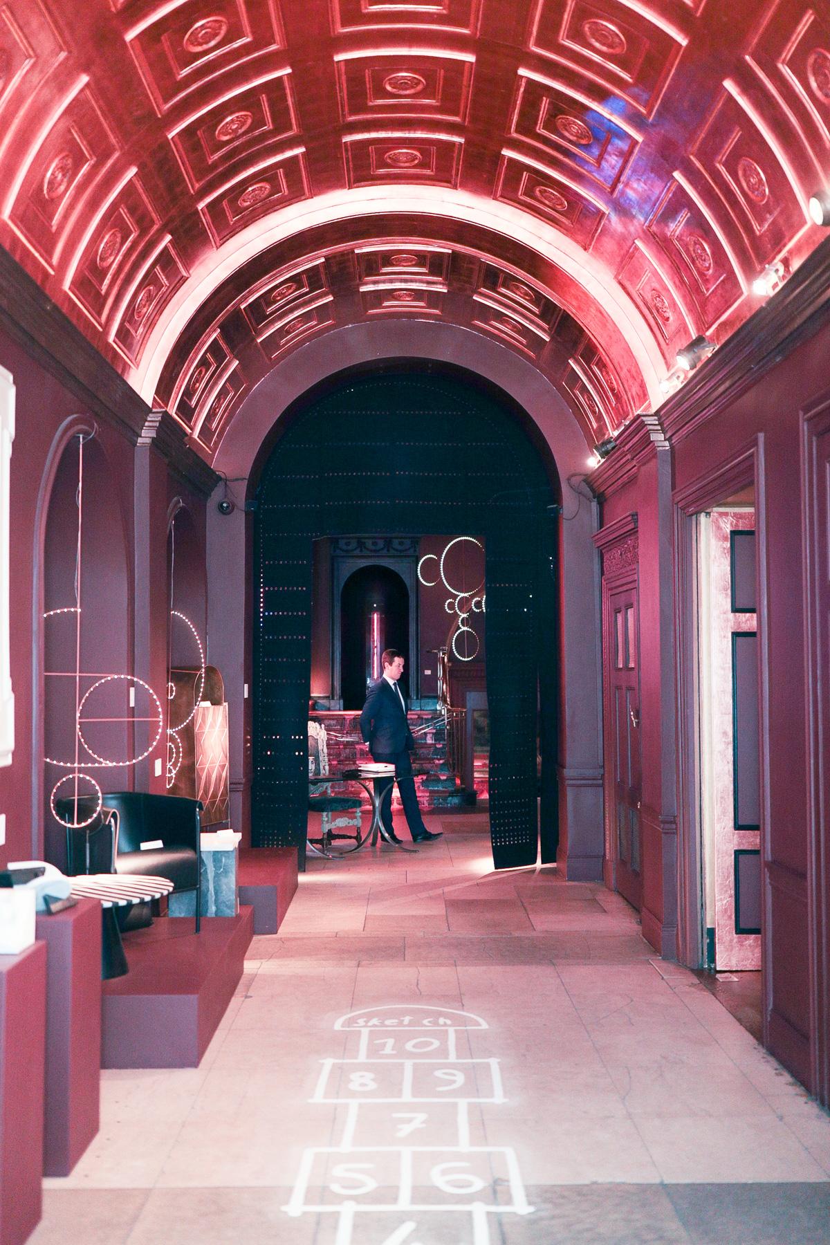 Room Sketching: Sketch London Pink Tea Room The Glade-26538