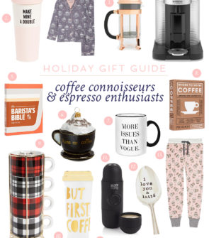 Jessica Sturdy shares the best gifts for the coffee lovers and espresso enthusiasts on your shopping list.