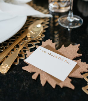 Jessica Sturdy shares her tips for hosting Thanksgiving dinner with Seven Daughters.