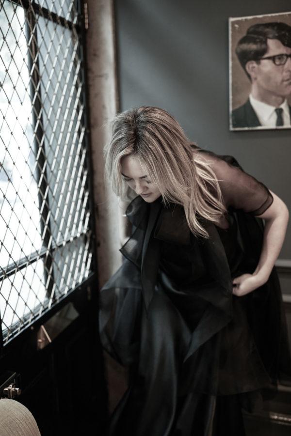 Fashion blogger Jessica Sturdy in Halfpenny The Black Edit