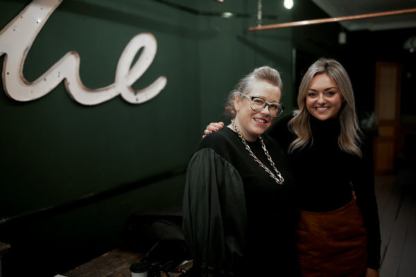 Jessica Sturdy and Kate Halfpenny at the London Atelier