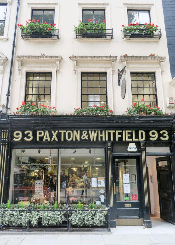 Travel blogger Jessica Sturdy visits Paxton & Whitfield Cheese Shop in London