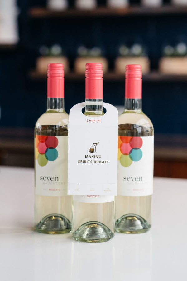 Jessica Rose Sturdy reviews Seven Daughters moscato wine bottles.