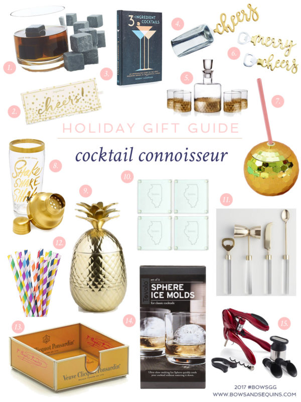2017 Holiday Gift Guide for the Bar Cart, perfect gifts for the cocktail connoisseurs