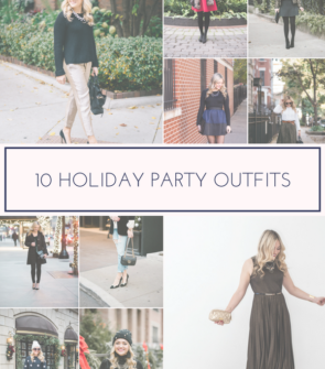 Jessica Sturdy shares ten outfits to wear to holiday parties.