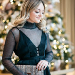 Sheer Shimmery Turtleneck + LBD