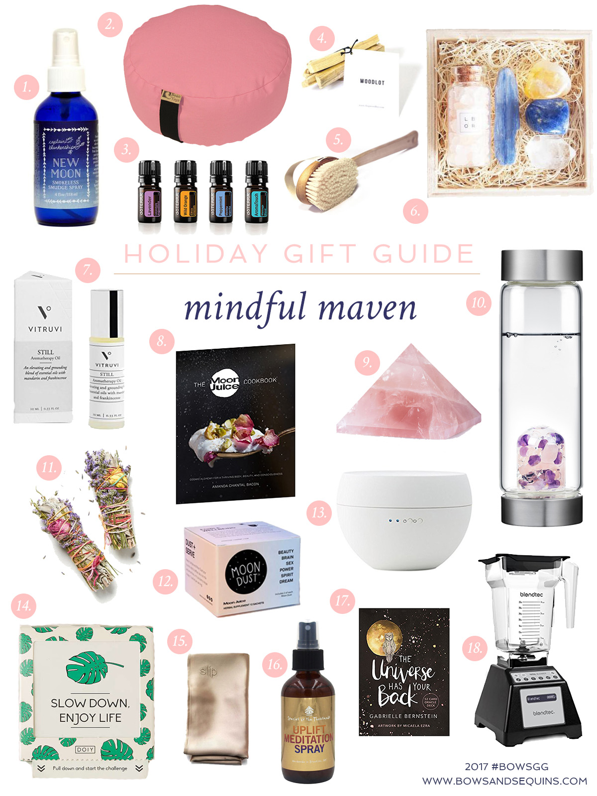 Bows & Sequins shares the best mindful gifts for the wellness types on your list this holiday season.
