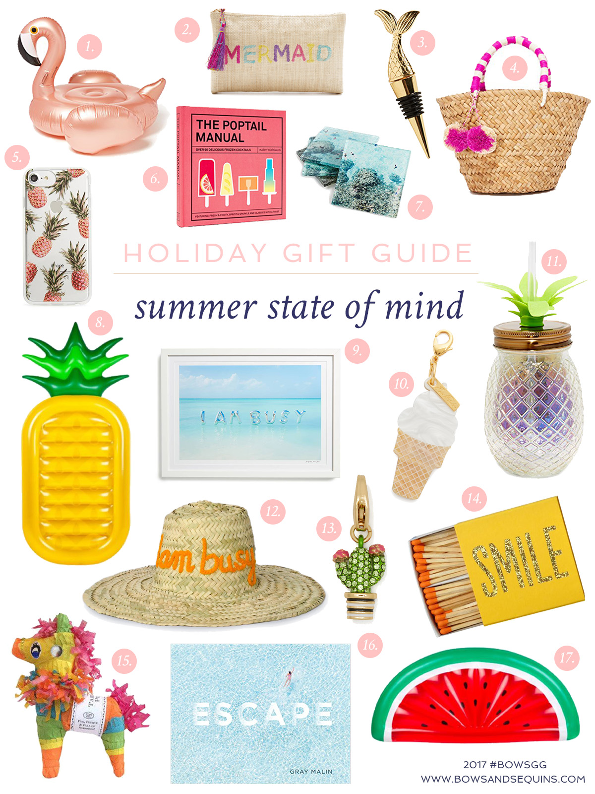 Jessica Sturdy shares the best gifts to give the girl that's always in a summer state of mind. Lots of colorful, cheery gifts to celebrate that endless summer mindset!