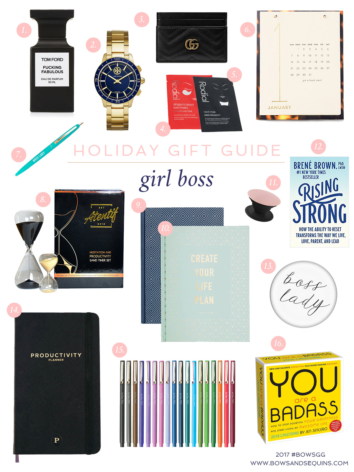 Bows & Sequins shares the best gifts to give the girl boss on your list this holiday season.