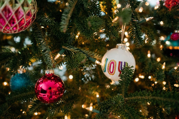 Chicago blogger Jessica Sturdy shares her colorful Christmas ornaments and decorating tips.