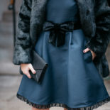 Black & Navy Blue for the Holidays