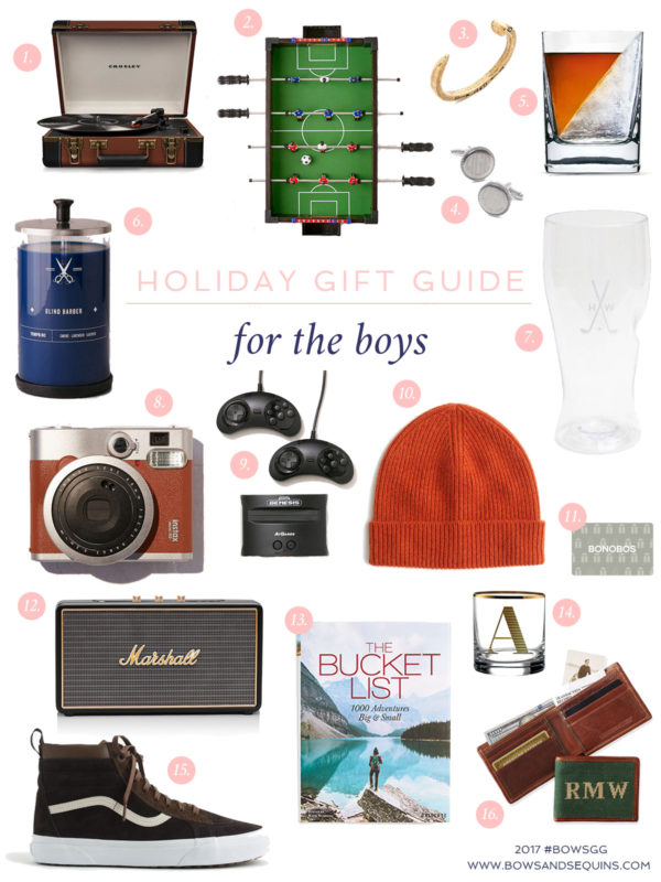 Jessica Sturdy shares the best gifts to give the guys in your life this holiday season.