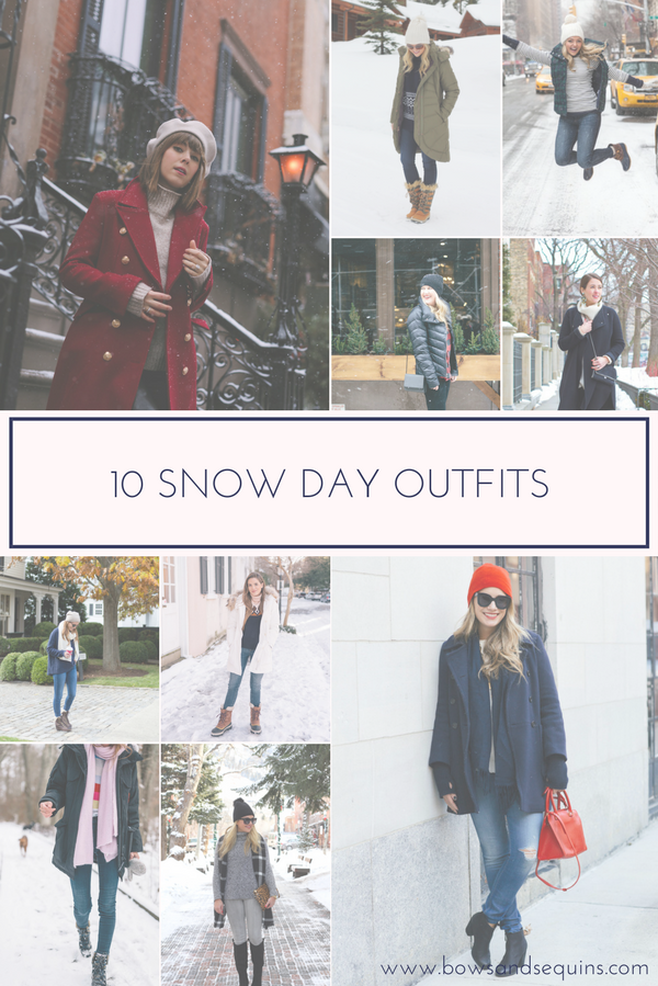 Jessica Sturdy shares ten outfits for snow day inspiration.