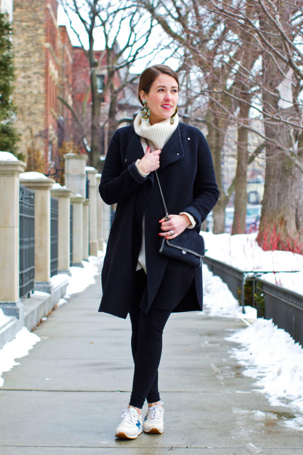 Jess Ann Kirby sharing what to wear in Chicago winters