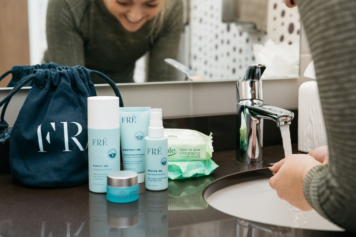 Blogger Jessica Sturdy shares her after workout beauty routine.