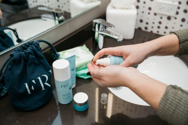 Jessica Sturdy shares her beauty routine for after workouts to avoid breakouts.