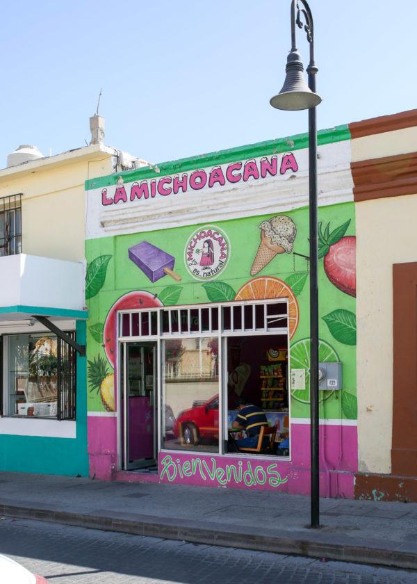 Jessica Sturdy shares photos from exploring San Jose del Cabo in Mexico. La Michoacana colorful ice cream shop
