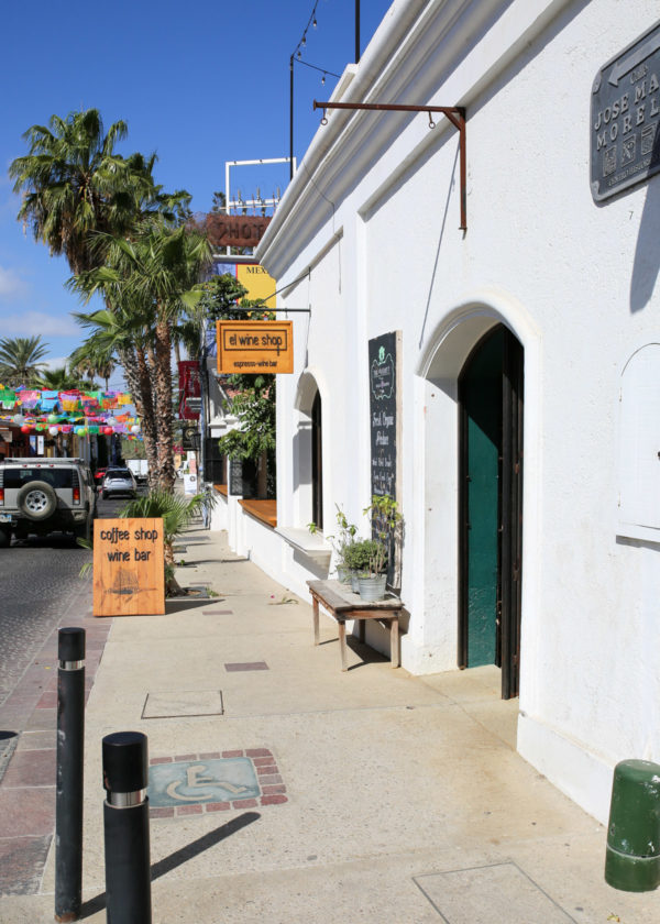 Jessica Sturdy shares photos from exploring San Jose del Cabo in Mexico. El Wine Shop
