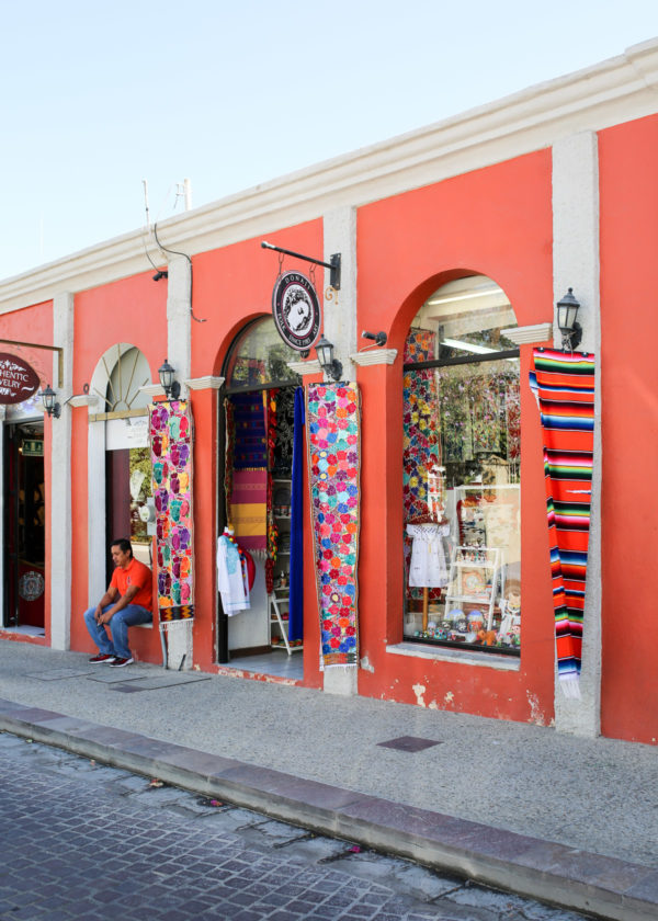 Jessica Sturdy shares photos from exploring San Jose del Cabo in Mexico. Colorful stores with lots of local craft.
