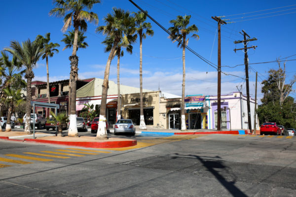 Jessica Sturdy shares photos from exploring San Jose del Cabo in Mexico. Colorful streets and blue skies.
