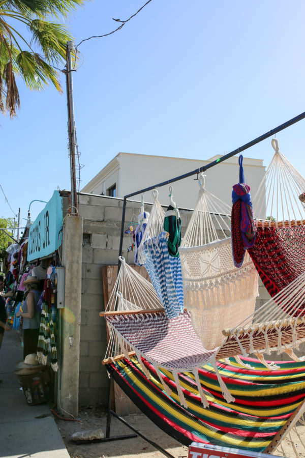 Jessica Sturdy shares photos from exploring San Jose del Cabo in Mexico. Hammocks for sale