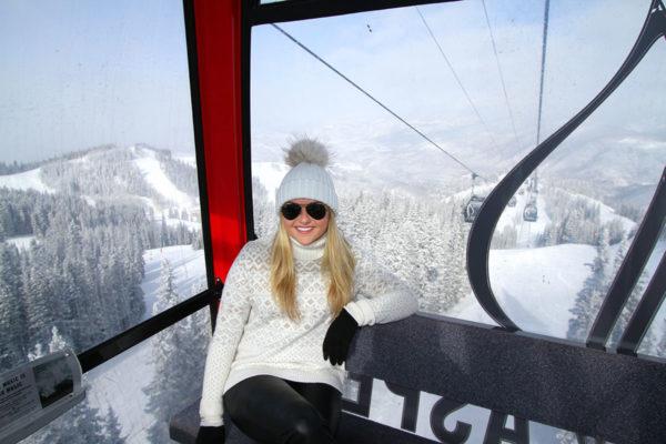 Jessica Sturdy on the Aspen Mountain Gondola