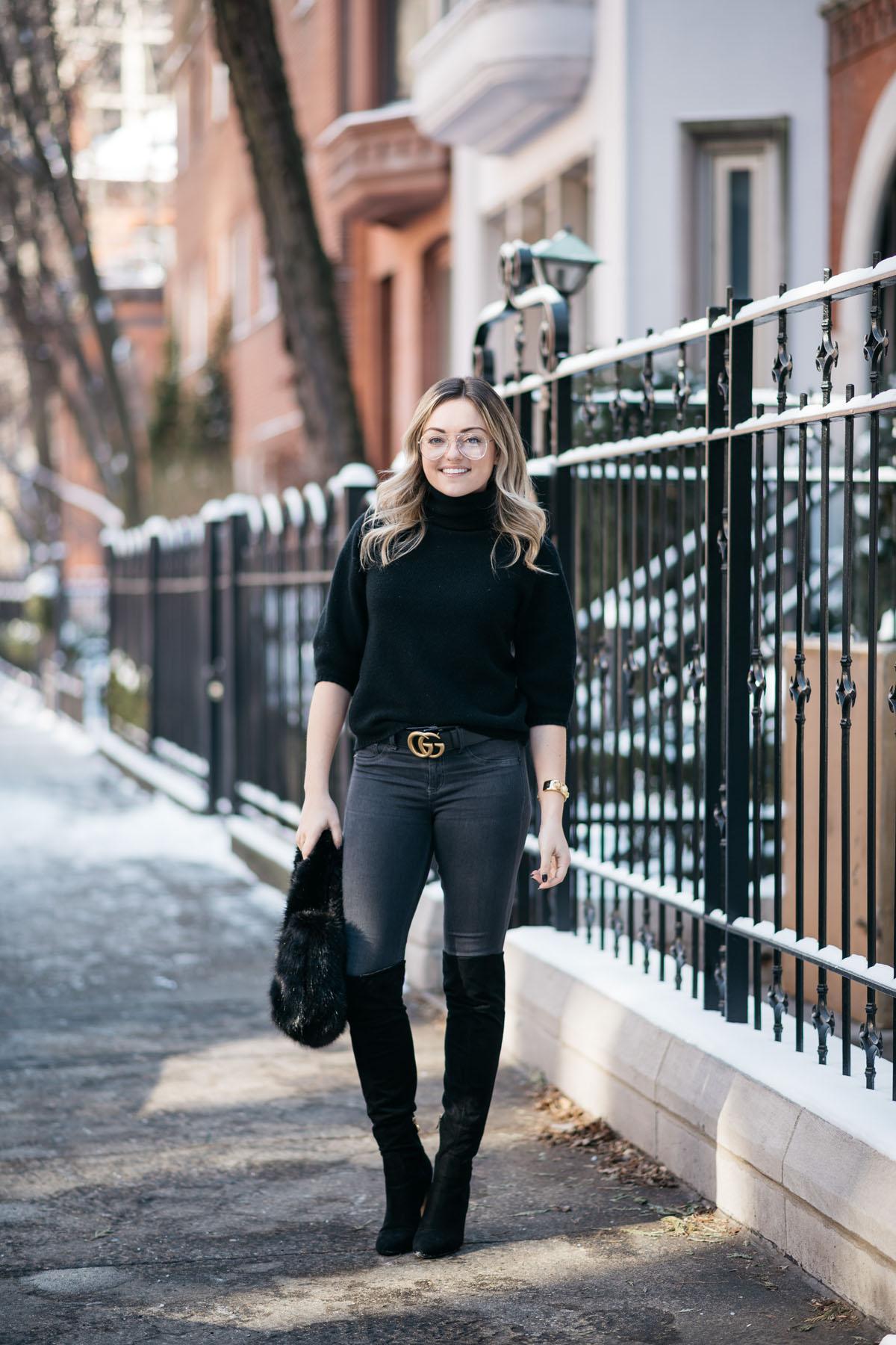 b877f504535 black-turtleneck-skinny-jeans-gucci-logo-belt — bows   sequins