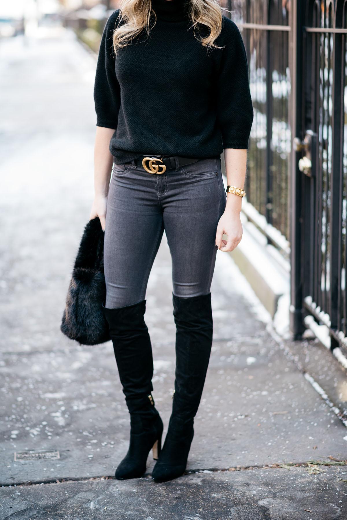Gucci Belt Skinny Jeans Otk Boots Bows Amp Sequins
