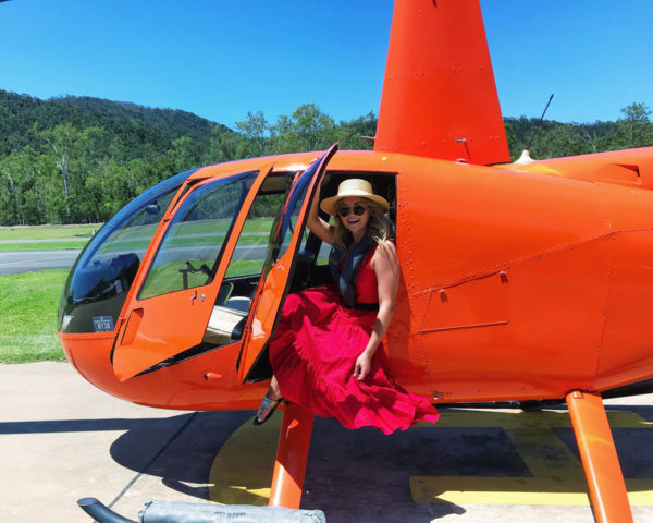 Jessica Sturdy reviews helicopter tour in Queensland, Australia