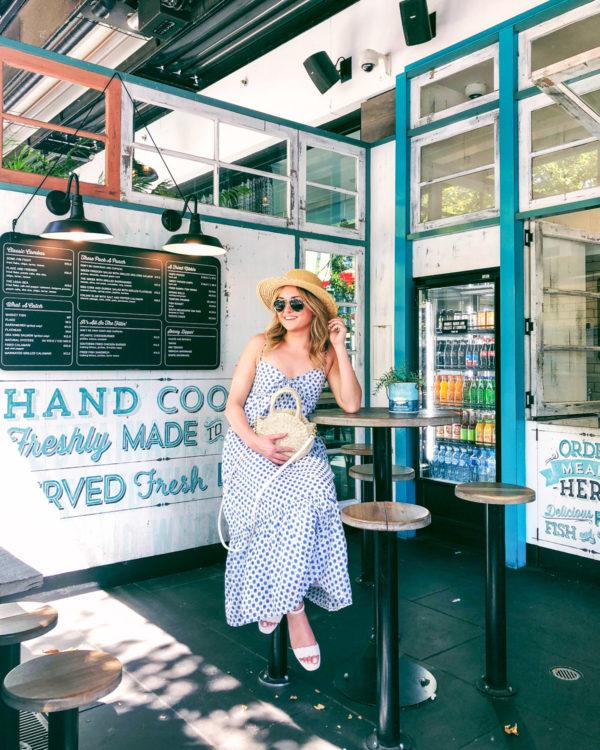 Jessica Sturdy wearing a J.Crew maxi dress in Australia