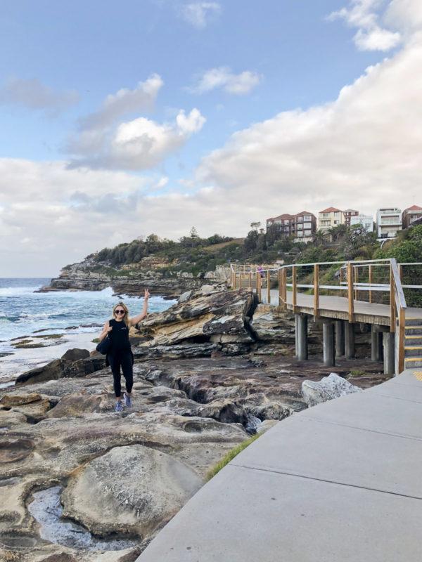 Jessica Sturdy on the Bondi to Coogee Beach Walk in Sydney Australia