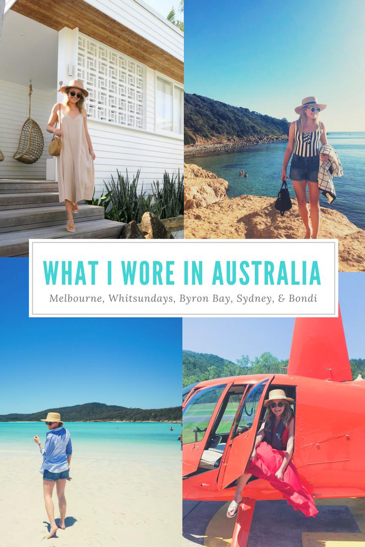 Jessica Sturdy's Australia Outfits in Melbourne, Mornington Peninsula, Airlie Beach, Whitsundays, Byron Bay, Sydney, and Bondi Beach