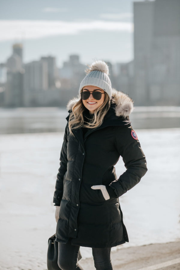 Chicago blogger Jessica Sturdy reviews a Canada Goose coat for winter.