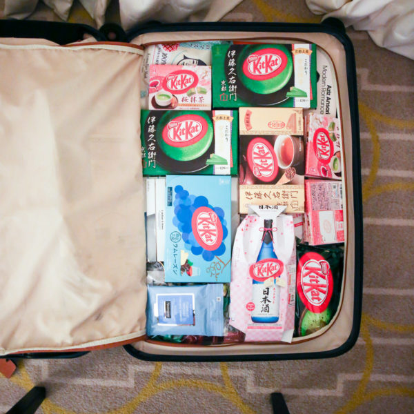 Jessica Sturdy trip to Japan; Suitcase filled with Japanese flavors of KitKats