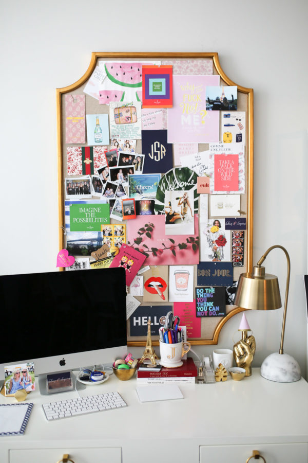 Jessica Sturdy shares her home office in Chicago and gives tips for styling a memo board.