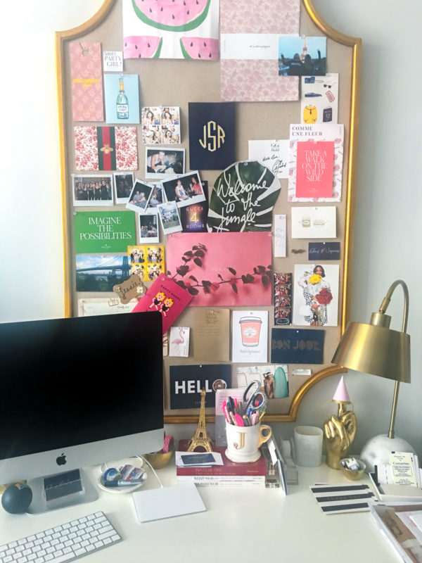 Jessica Sturdy shares how to decorate a memo board in her Chicago office.