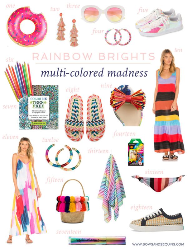 Jessica Sturdy shares her favorite multicolored clothing and accessories for spring and summer!