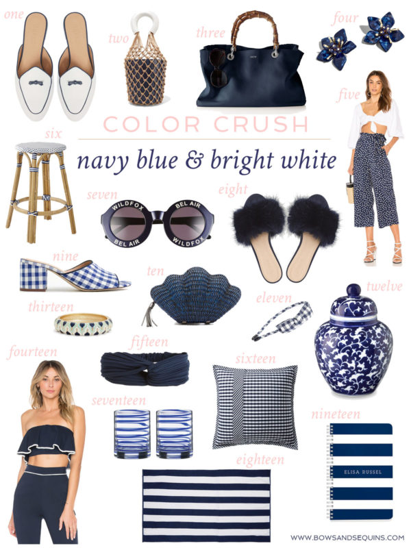 Jessica Sturdy shares her favorite navy blue and white shopping finds for spring and summer.