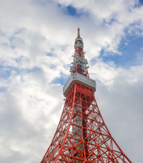 Jessica Sturdy trip to Japan; pictured here is the red Tokyo Tower