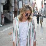 White on White + Pink Stripes