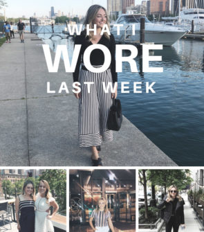 Jessica Sturdy shares five outfits that she wore in Chicago in May 2018.
