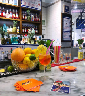 Jessica Sturdy at Eataly's new Sabbia restaurant in Chicago, inspired by summertime on the Italian coast. An Aperol Spritz is the perfect way to kick off summer!