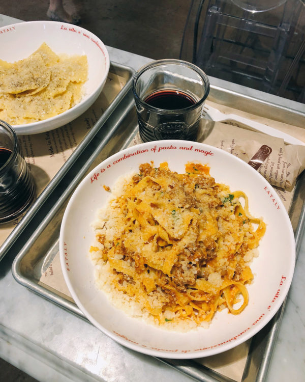 Best pasta in Chicago at Eataly's Ravioli & Co counter on the first floor.