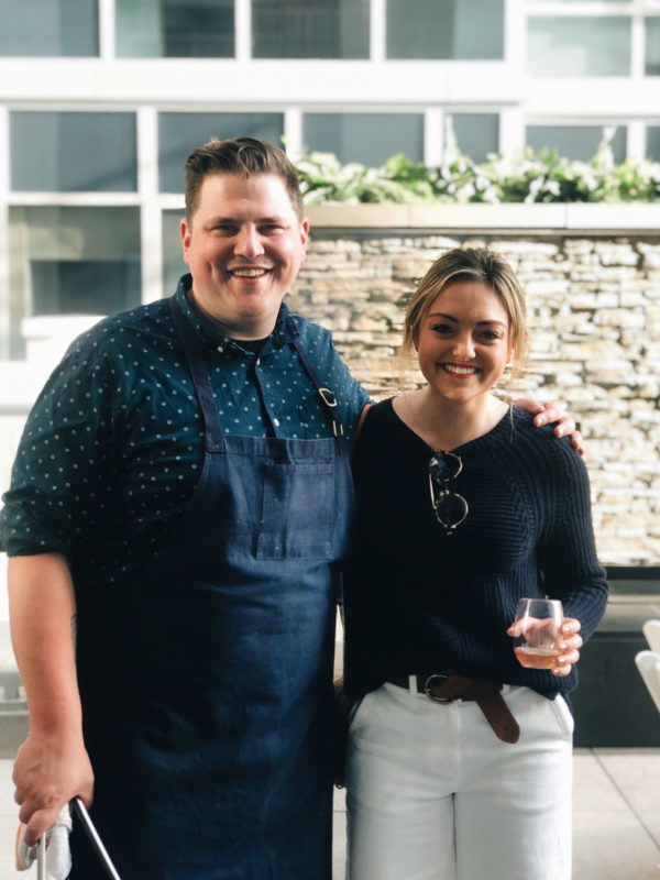 Chicago Top Chef Joe Flamm and top Chicago blogger Jessica Sturdy