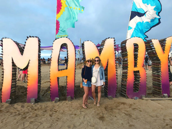Kelly Chrischilles and Jessica Sturdy at Mamby on the Beach in Chicago