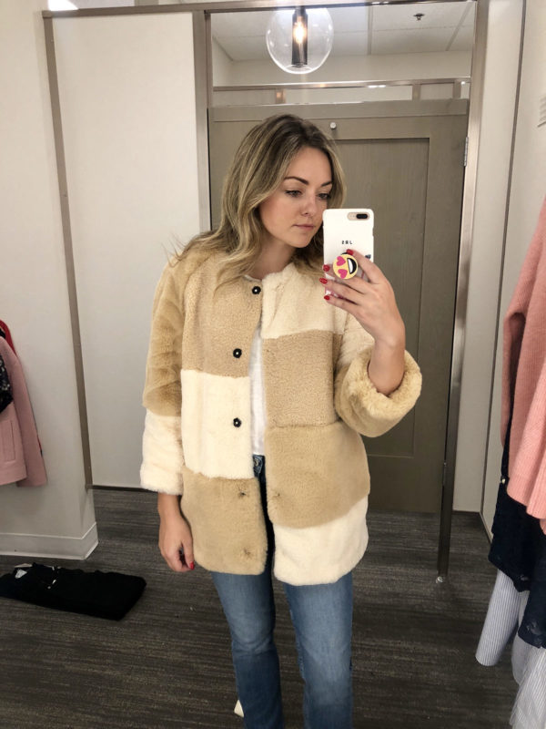 Nordstrom Anniversary Sale Best Coats: BCBG Patchwork Faux Fur Teddy Cropped Coat