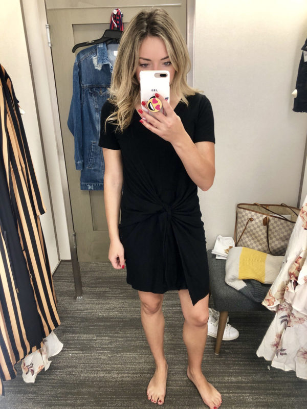 Nordstrom Anniversary Sale Black Tee Shirt Dress Socialyte