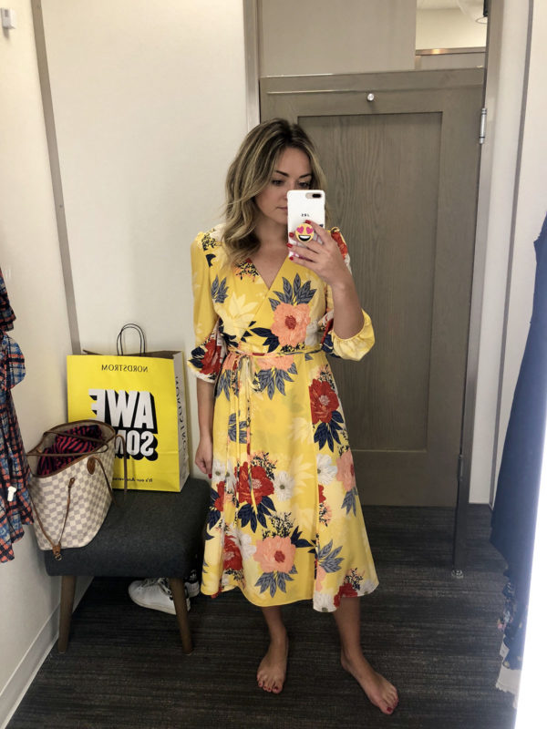 Nordstrom Anniversary Sale Dress Round-Up: Eliza J Floral Wrap Dress